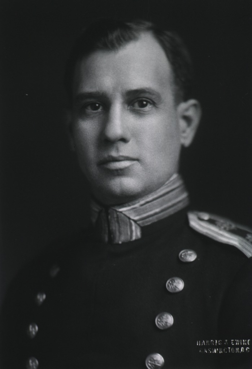<p>Head and shoulders, full face, USPHS uniform.</p>