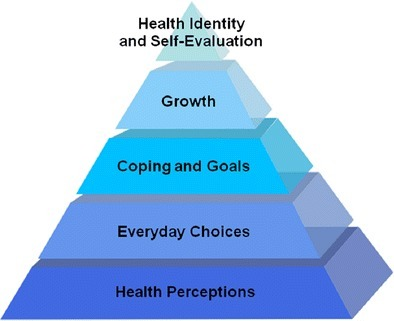 Health competence pyramid for long term health