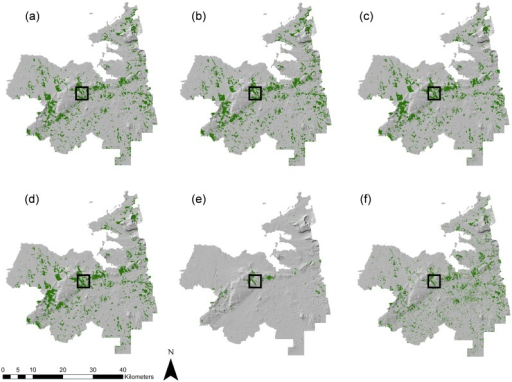 Extent Of Forest Cover In Sligo Based On A SAR RF Openi - Us forest cover map