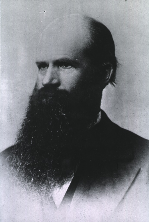 <p>Head and shoulders, right pose, long beard.</p>