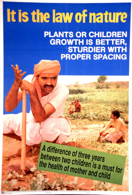 <p>Multicolor poster.  Title at top of poster.  Visual image is reproduction of a color photo showing two men in a field, with a woman and child in the background.  Note text superimposed on lower portion of photo.  Publisher information at bottom of poster.</p>