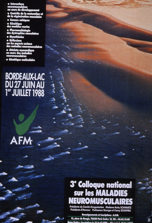 <p>Multicolor poster with white lettering announcing conference, June-July, 1988.  Also lists dates, topics, contact information, and deadlines for registration and submission of papers and abstracts.  Poster is a reproduction of a color photo of a beach, with small waves lapping up on the shore.  Publisher logo on left side of poster.</p>