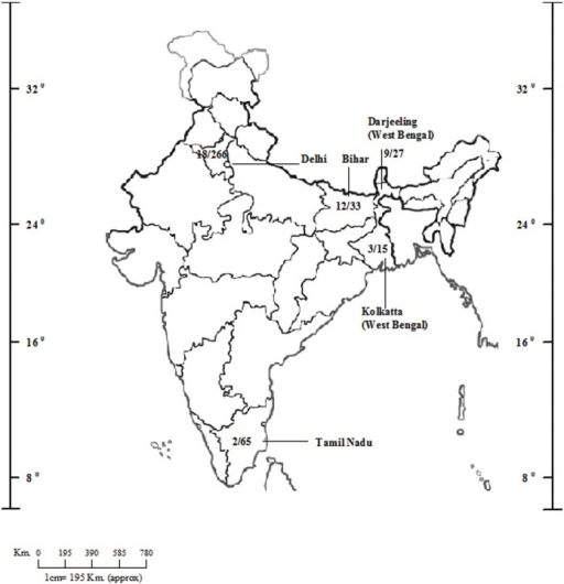 An Outline Map Of India Showing Statewise Isolation Of Openi - Us map isolation