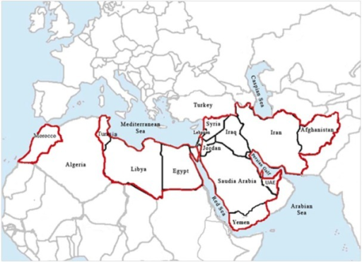 Countries in the World Health Organization Eastern Mediterranean Region affected by plague.
