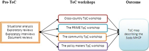 The ToC Process in developing the Sodo district mental health care plan