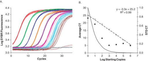 Qpcr titration curve a depicts cycle by cycle log sy open i follow us on social media pronofoot35fo Choice Image