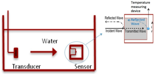 Schematic of the standard thermoacoustic sensor and its setup.