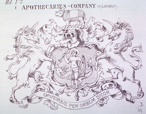 <p>Society of Apothecaries of London.</p>