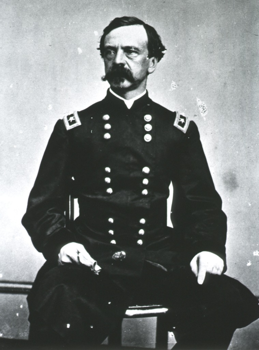 <p>Seated; half length; front view.  In Civil War uniform of a Major-General.</p>