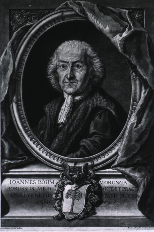 <p>Large print, medallion inset with drapery and stand.  At age of 86.</p>