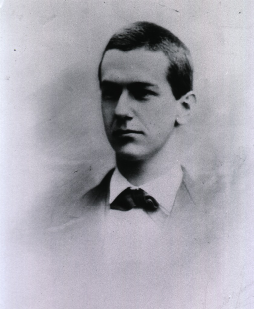 <p>Head and shoulders, left pose; as a young man.</p>
