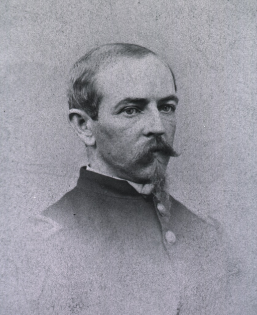 <p>Head and shoulders, face to right.  Civil war period uniform.</p>