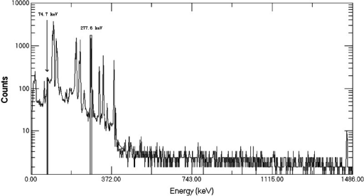 Gamma-spectrum of purified 239Np