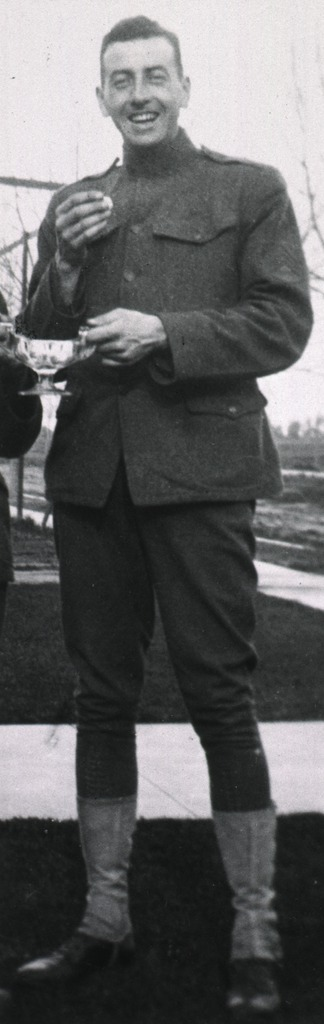 <p>Full length, standing, front pose, in uniform.</p>