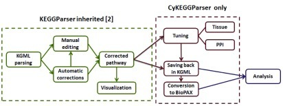 Graphical representation of CyKEGGParser use case.
