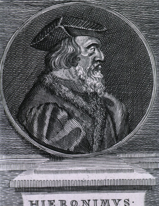 <p>Medallion:  right profile wearing hat.</p>