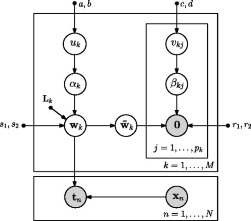The graphical model representation of NaNOS