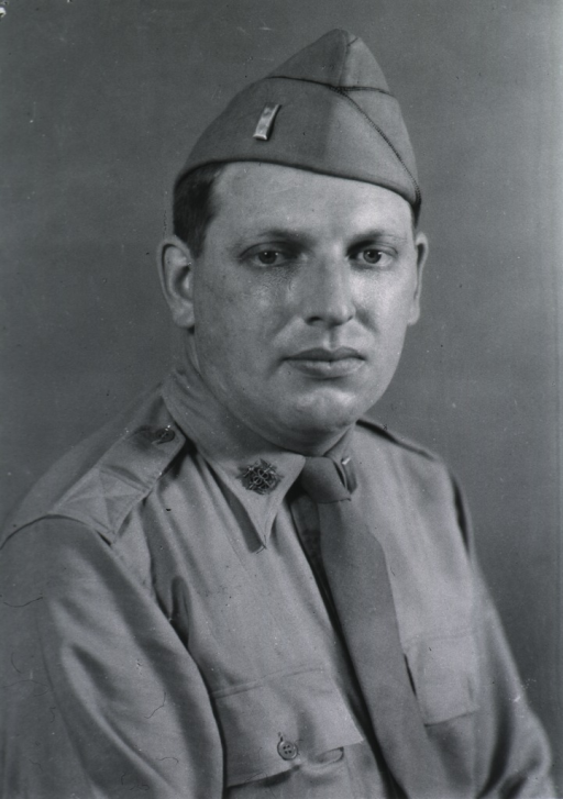 <p>Head and shoulders, full face, wearing uniform and cap of U.S. Army SGO.</p>