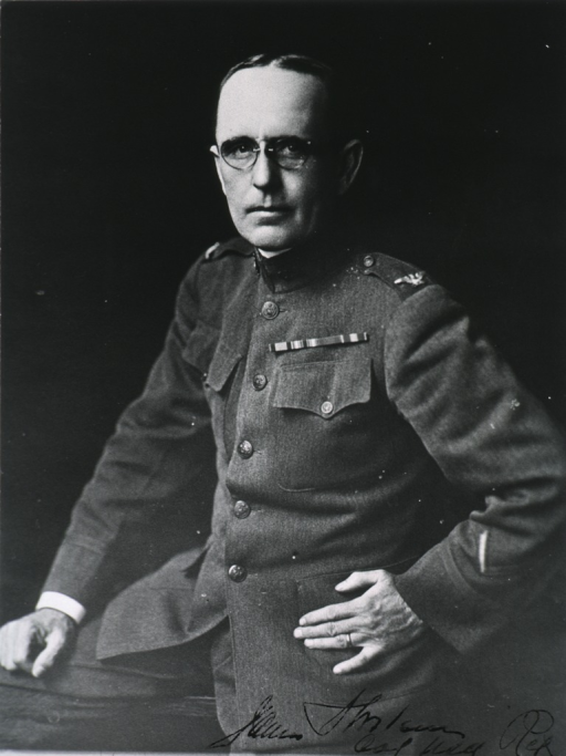 <p>Seated, front pose; in uniform of Col., M.C.</p>