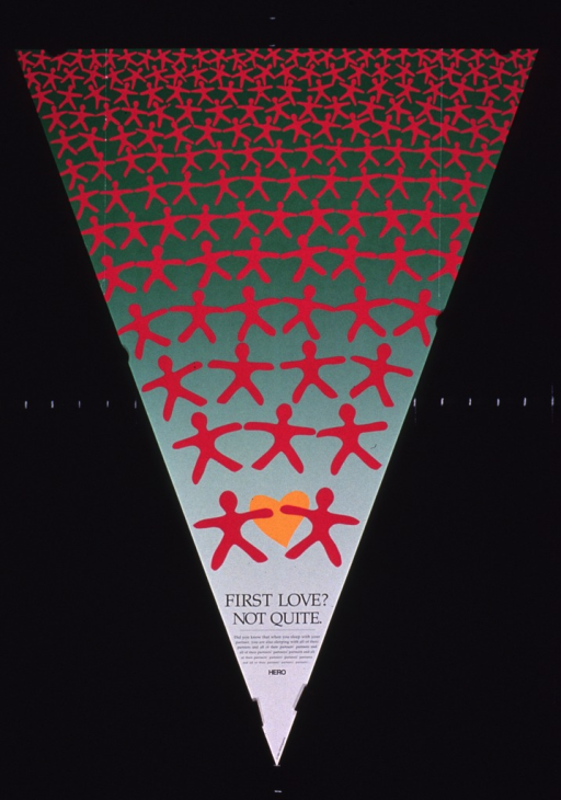 <p>Predominantly green poster with black lettering.  Visual image is  pyramid of human figures, beginning with two figures at the bottom point and steadily increasing until 29 figures run across the top.  Title, caption, and publisher information at bottom of poster.</p>