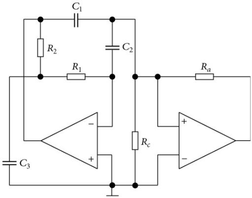 The circuitry implementation of chaotic oscillator for case A.