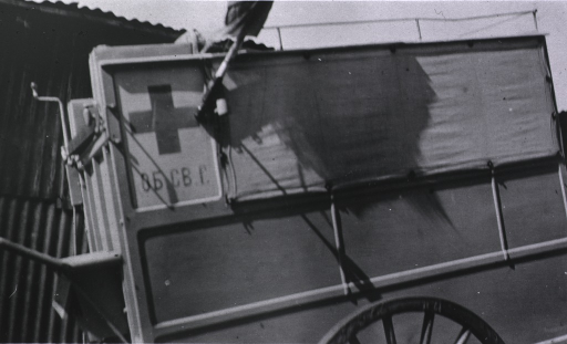 <p>A view of an ambulance cart.</p>