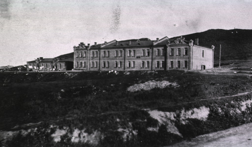 <p>A view of a fortress that was used as a temporary Military Hospital.</p>