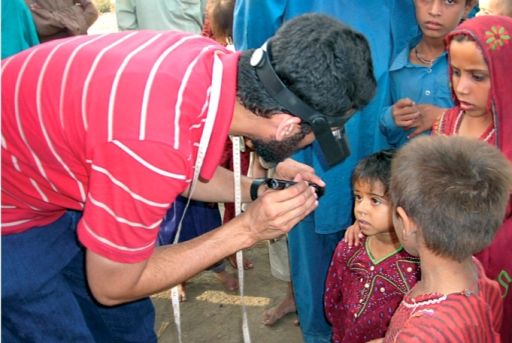 Ocular examination in preschool children. PAKISTAN