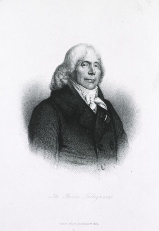 <p>Half length, right pose; inscribed, &quot;The Prince Talleyrand.&quot;</p>