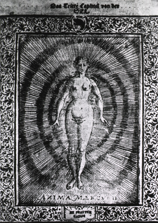 <p>A nude woman representing the spirit of mercury.</p>