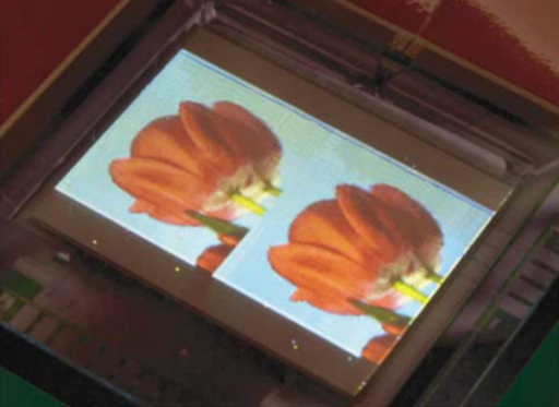 Image of an organic display panel developed by Philips Electronics. Reproduced from [75]. Copyright Nature Publishing Group, 2004.