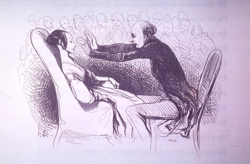 <p>A hypnotist mesmerises a young lady before a crowd.</p>