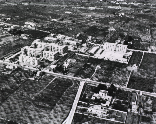 <p>Aerial view of the hospital complex.</p>