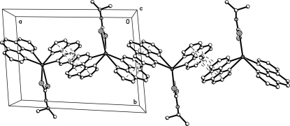Crystal packing of (I) showing π-π stacking interactions (dashed lines) along the a axis.