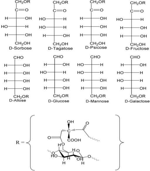 Structures For Two Pairs Of Aldohexose And Ketohexose E Open I