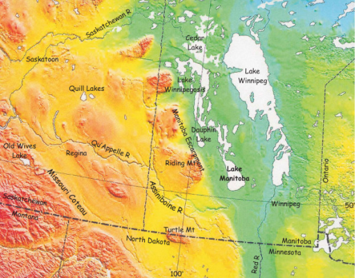 Eastern Portion Of Northern Great Plains Western Canad Openi - Map of great plains in canada and the us