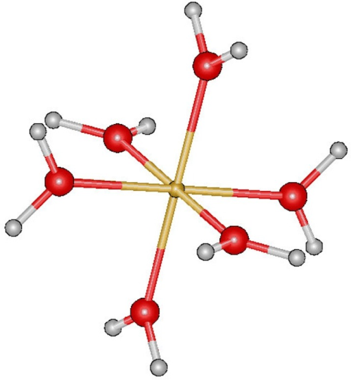 Image result for fe(h2o)6 2+ structure