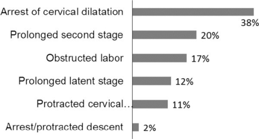 Types of labor abnormality (cases) at Hawassa university referral hospital/Ethiopia, January 2010-December 2011. N = 428.