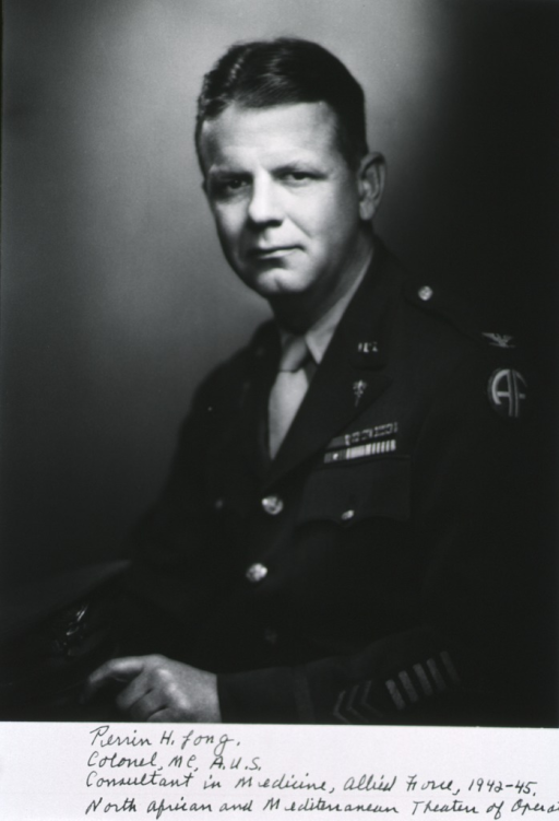 <p>Half-length, left pose, full face; wearing uniform of Army Col., ribbons, holding cap.</p>