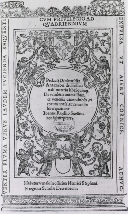 <p>Engraved title page with the printers' mark of Henrici Stephani.</p>