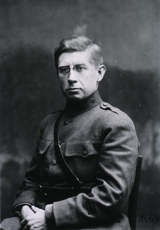 <p>Half-length, seated, left pose, full face; wearing uniform (Captain).</p>
