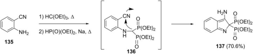 Synthesis of indole bisphosphonates through a modified Kabachnik–Fields reaction.