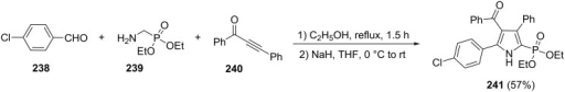 Three-component synthesis of 1H-pyrrol-2-ylphosphonates.