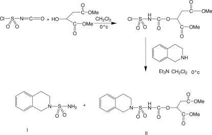 Chemical pathway of the formation of (I)