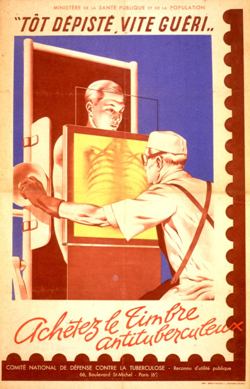 <p>Image shows a patient having a chest x-ray and the technician adjusting the machine and viewing the x-ray as it is being taken.</p>