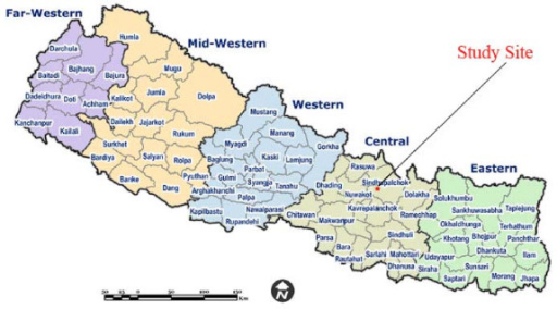 The Study Site In The Map Of Nepal