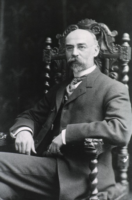 <p>Seated, half length; left pose; arms over chair.</p>