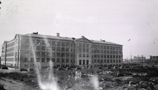 <p>Exterior view of the front of the high school.</p>