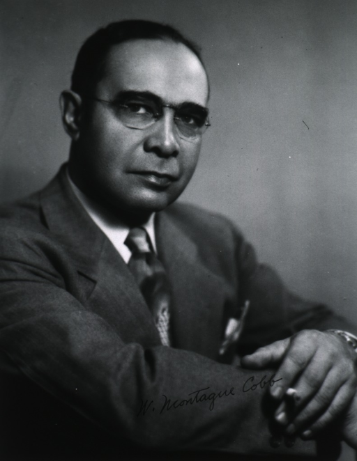 <p>Half-length, right pose, arms folded, holding cigarette.  African American anatomist, anthropologist, and professor of anatomy and anthropology at Howard University School of Medicine.</p>