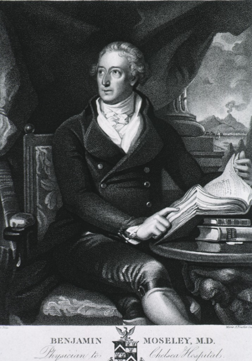<p>Seated, three quarter length, right pose, holding book; curtain drawn showing background.</p>